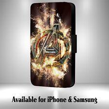 Marvel Avengers Logo Faux Leather Flip Phone Case M22