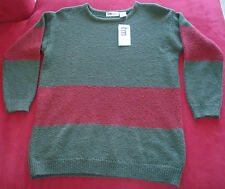 NWT women's small sweater,Originally $72,forest green,dark red.Perfect condition