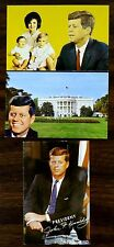 PRESIDENT JOHN F. KENNEDY & FAMILY 3 Postcards printed before his death