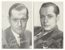 ROBERT MONTGOMERY Movie Actor Vtg Penny Arcade Exhibit Vending Card Postcard Lot