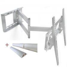 Schwenkbare TV Fernseher Wandhalterung ausziehbar mit Neigung max 55 Zoll Silber