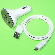 3-Port USB Car Charger Adapter Micro Cable for Samsung Galaxy S3 I9300 I535 R530