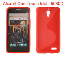 TPU gel silicone case cover S-line red for Alcatel One Touch Idol OT-6030D