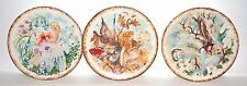 "Vintage ceramic Fairy Plate - lot of 3 - 8.25"" diameter stamp Jh on a back"