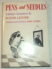 1ST PENS AND NEEDLES w/ ORIG. SIGNED DRAWING by DAVID LEVINE - Intro John Updike