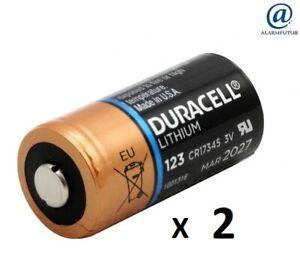 Lot de 2 piles lithium CR123A Duracell ( vrac/bulk )