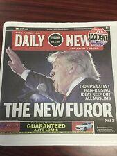 Donald Trump Newspaper Hitler Furor Philadelphia Daily News. Very Rare!