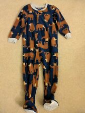 Carter's Boys Brown Bear Sleeper Footed Pajamas 2T