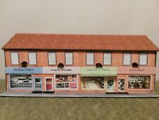00 gauge model railway building - row of shops WITH LIGHTING version A