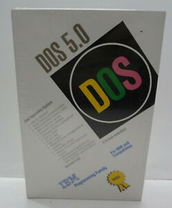 IBM DOS 5.02 3.5 inch Diskettes Software New Sealed in Shrink Package w/ Manuals
