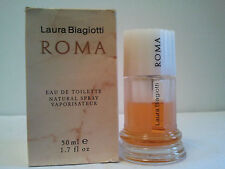 Vintage Laura Biagiotti Roma 50ml EDT Spray Used Women's Perfume Fragrance Rare