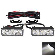 1 Pair  6 LED White High Power Car DRL Daytime Running Light Fog Lamp Universal