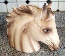 "Vintage Horse Head Planter 6"" x 7"" National Pottery #c-3344"