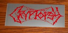 Cryptopsy And Then You'll Beg Bumper Sticker Promo 6x2.5 RARE