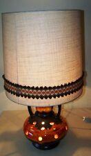 Schöne 70er Jahre Stehlampe, Bodenlampe, Lava Keramik, Kult Design Lampe