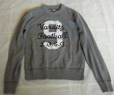 """Childrens H&M Ragazzi 14 anni grigio Varsity Calcio L.o.g.g grigio maglione 34 """"Petto"""