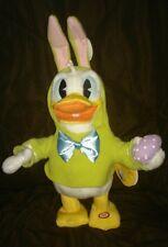 "Singing Animated Donald Duck Plush ""Don't Pull My Ears"" Disney Hallmark"