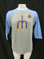 Seattle Mariners MLB Majestic Men's Big & Tall 3/4 Sleeve T-Shirt