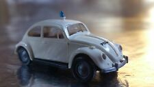 * Brekina 25202 VW Beetle White Police / Polizei Vehicle 1:87 HO Scale