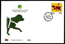 IRLAND FDC 2006 FAUNA HUNDE BLINDENHUND GUIDE DOG CHIEN AVEUGLE BRAILLE bq87