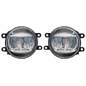Pair LED Fog Lights for 2013-2019 Lexus Toyota Lamps Set 81220-48051 81210-48051