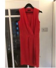 Sexy deep v , red silk joseph wrap dress excellent condition size 10