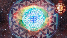Large 1m Flower of Life FOL Merkaba Space Inspirational Artwork Print Poster