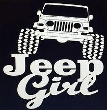 Jeep Girl Decal Sticker Wrangler Cherokee Renegade Compass Patriot -- Free Ship