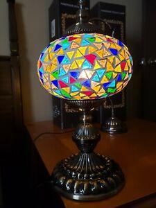 Turkish Handmade Mosaic Table Top Night Stand Lamp