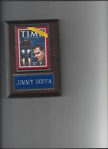 JIMMY HOFFA PLAQUE TEAMSTER LEADER UNION LABOR PICTURE PLAQUE  MAG.