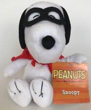 "Peanuts Snoopy Plush Masked Marvel Mask Cape Stuffed Just Play 6"" Seated"