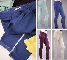 Markenlose Damen-Hosen im Chinos-Stil mit Baumwolle