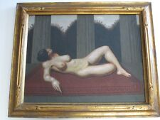 VINTAGE SURREAL ART DECO NUDE FEMALE WOMAN MODEL SIGNED MYSTERY ARTIST MONOGRAM