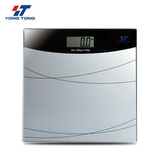 180KG/396LB Digital LCD Body Bathroom Health Glass Electronic Weight Scale