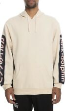 Pink Dolphin Promo Block Pullover Hoodie Creme Size Medium M