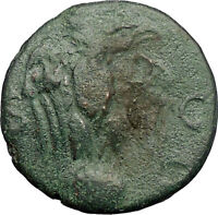 NERO 64AD Balkan Possibly Perinthus EAGLE GLOBE Ancient Roman Coin RARE i57581