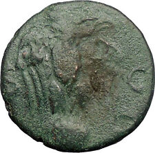 NERO 64AD Balkan Possibly Perinthus EAGLE GLOBE Ancient Roman Coin RARE i57581