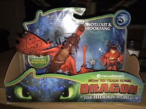 How to Train Your Dragon Hookfang and Snotlout Toy Figure Hidden World NEW!