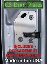 Jeep Cherokee (XJ) 97-01 door latch repair & reinforcement plates; L & R