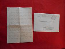 Original  Feldpost Brief 1917/1941