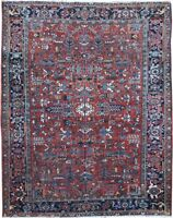 "Authentic  Wool RNR-9019 7' 8"" x 10' 0"" Persian Heriz Rug"