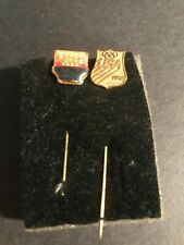 Vintage Women's Us Olympic Team Souvenir Hat Pins. 1984 and 1980