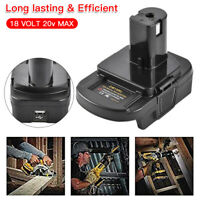 For DEWALT Milwaukee Converter to 18V RYOBI CORDLESS PLUG TOOL Battery Adapter