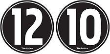 Technics 60604 PAIR Slipmat 12-10 Design BLACK/WHITE Original / Brand New