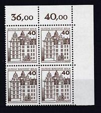 Berlin  1980 postfrisch Eckrand oben rechts MiNr. 614 Burgen und Schlösser