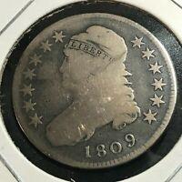 1809  BUST HALF SILVER DOLLAR SCARCE COIN