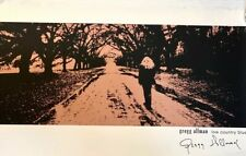 GREGG ALLMAN BROTHERS Signed Poster Low Country Blues #'d/ 300 Ultra-Rare 2010