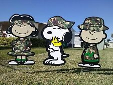 Peanuts military yard and garden decorations