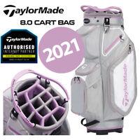 TaylorMade 8.0 14-WAY Divider Golf Cart Bag Grey/Purple - NEW! 2020
