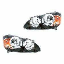 Fits 05-07 Corolla S XRS Driver + Passenger Side Headlight Lamp Assembly 1 Pair